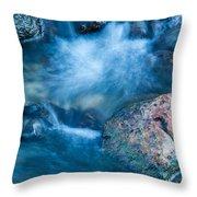 Crazy Water Throw Pillow