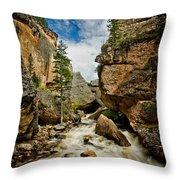 Crazy Woman Canyon Throw Pillow