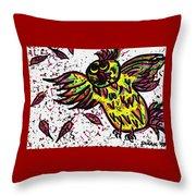 Crazybird Throw Pillow