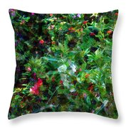 Crazyquilt Garden Throw Pillow
