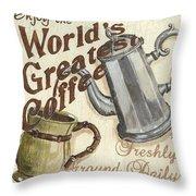 Cream Coffee 1 Throw Pillow by Debbie DeWitt