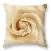Creamy Rose Throw Pillow