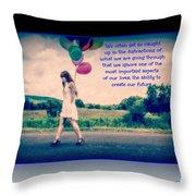 Create Your Own Future Throw Pillow