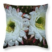 Created By A Cactus Throw Pillow