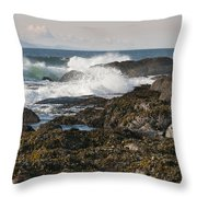 Creating Waves Throw Pillow