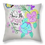 Creation By Virgin Throw Pillow