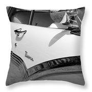 Creative Chrome - 1956 Ford Fairlane Victoria Throw Pillow