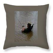 Creative Fishing Throw Pillow