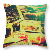 Creative Retro Film Photography Background Throw Pillow