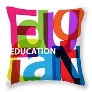 Creative Title - Education Throw Pillow