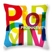 Creative Title - Productivity Throw Pillow