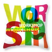 Creative Title - Workshop Throw Pillow