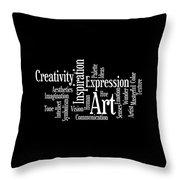 Creativity Art Inspiration Throw Pillow