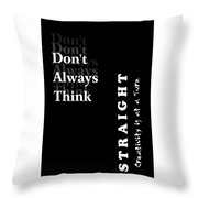 Creativity At A Turn Throw Pillow