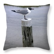 Creatures Of The Gulf - Keeping Watch Throw Pillow