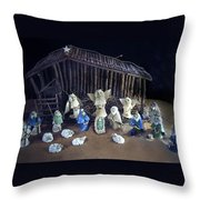 Creche Top View  Throw Pillow by Nancy Griswold