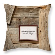 Credo Throw Pillow