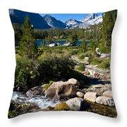 Creek At Heart Lake Throw Pillow