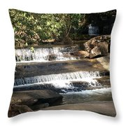 Creek At Table Rock Throw Pillow