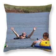 Creek Float Hands Throw Pillow