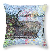 Creek Impressions #2 - Nocturne  Throw Pillow