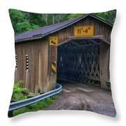 Creek Road Bridge Throw Pillow