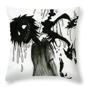 Creep Throw Pillow