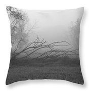Creeping Branches Throw Pillow