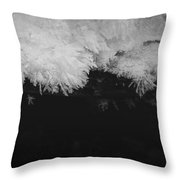 Creeping Cold Throw Pillow