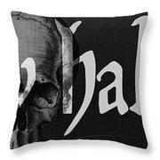 Creepy Halloween Throw Pillow