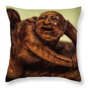 Creepy Things On The Mantel 4 Throw Pillow