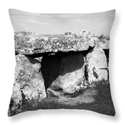 Creevykeel Court Cairn County Sligo Ireland Throw Pillow