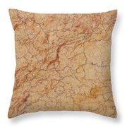 Crema Valencia Granite Throw Pillow