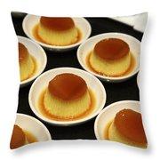 Creme Caramel Dessert Throw Pillow