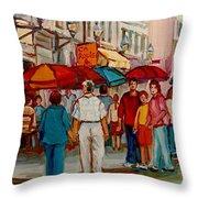Creme De La Creme Cafe Throw Pillow