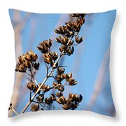 Crepe Myrtle In Blue Throw Pillow
