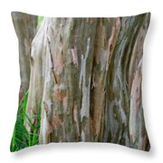 Crepe Myrtle Tree Bark Throw Pillow
