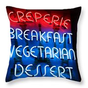 Creperie Throw Pillow