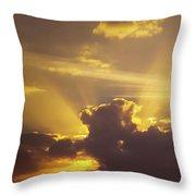 Crepuscular Rays Of Sunlight Throw Pillow