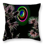 Crescent And Palms 3 Throw Pillow