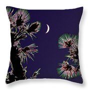 Crescent And Palms Throw Pillow