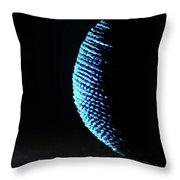 Crescent Ball In Cyan Throw Pillow by Scott Cordell