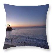 Crescent Bay Sunrise Throw Pillow
