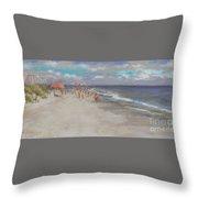 Crescent Beach, Myrtle Beach Throw Pillow