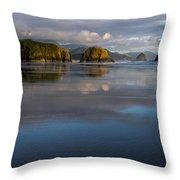 Crescent Beach Reflections Throw Pillow