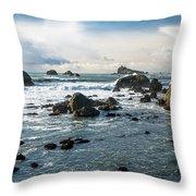 Crescent City Shoreline Throw Pillow