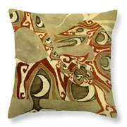 Crescent Dragon Throw Pillow