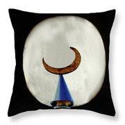 Crescent Full Moon Throw Pillow