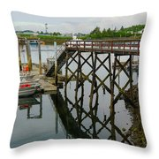 Crescent Harbor Throw Pillow