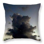 Crescent Moon Over A Storm Cloud Throw Pillow
